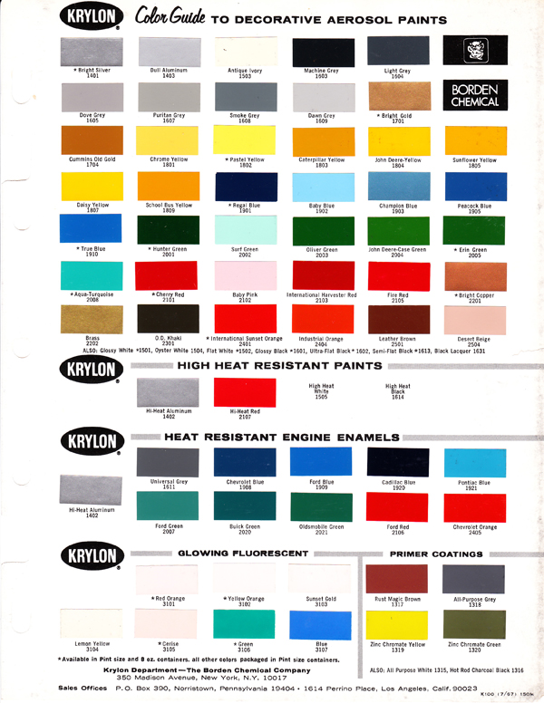 Fusion Spray Paint Colors